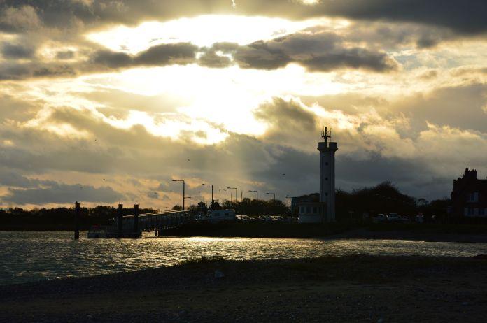 Sun and dark clouds II
