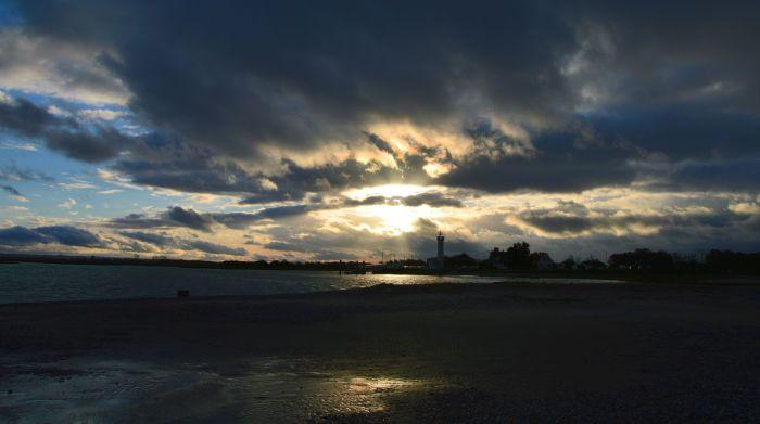 Menacing clouds at Le Hourdel