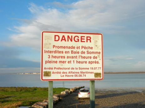 Danger! Tides change quickly.