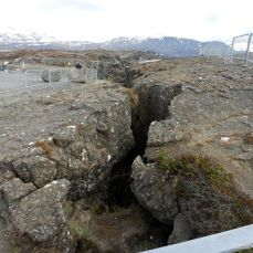 The fracture between the American and European tectonical plates