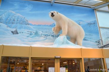 Entrance of the supermarket: with polar bear :)