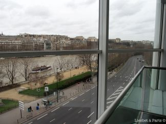 We're in the heart of Paris: next to the Seine and the Eiffel Tower