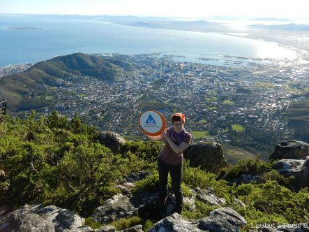 Me on Table Mountain with HI sign